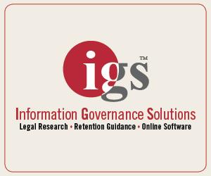 Information Governance Solutions adv. 300 x 250 igs