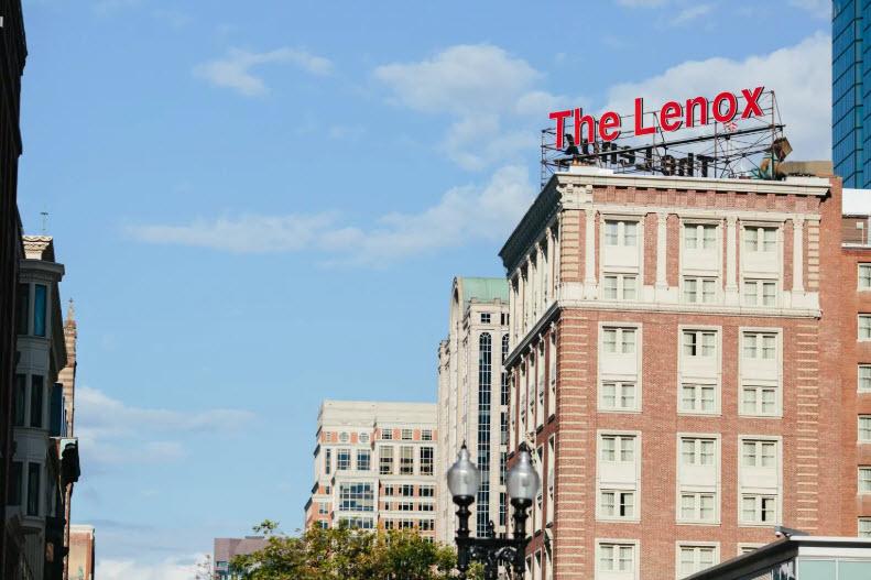 Lenox Red Letter Sign