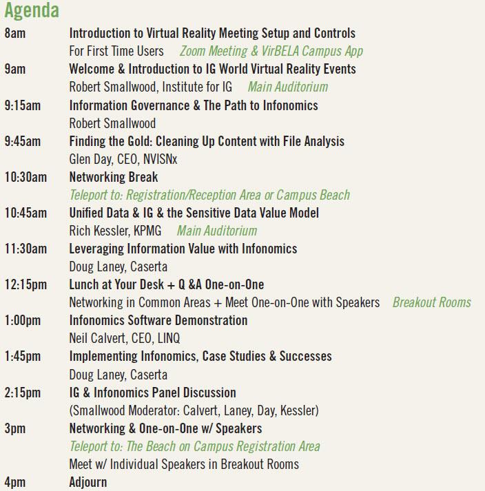Virtual Event Agenda 0316 0409pm